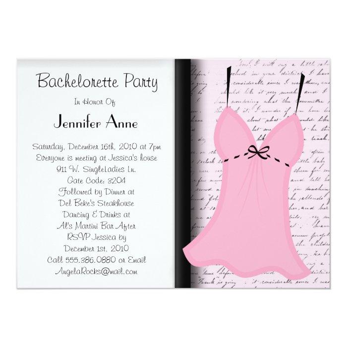Cute Bachelorette Party Time Card