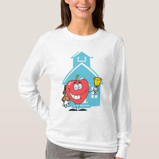 cute back to school cartoon character apple T-Shirt
