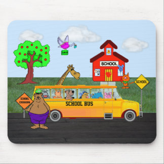 """Cute """"Back To School"""" Mousepad w/Funny Animals"""