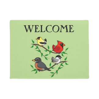 Cute Backyard Birds Doormat