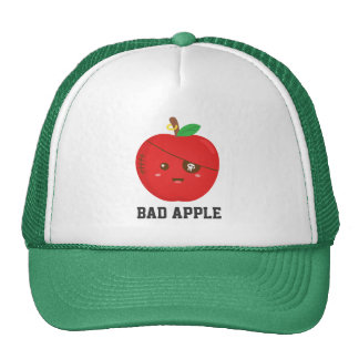 Cute Bad Apple with Eye Patch Mesh Hat