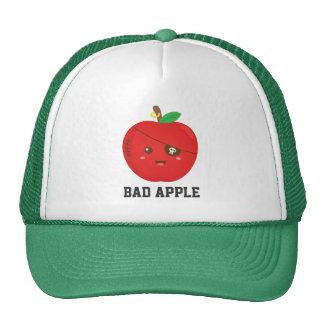 Cute Bad Apple with Eye Patch Trucker Hat