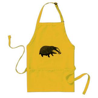 Cute badger adult apron