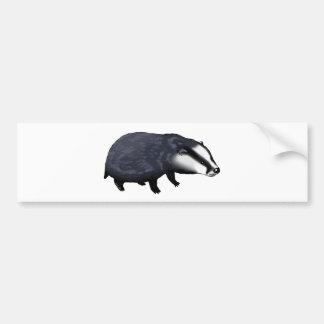 Cute badger bumper sticker
