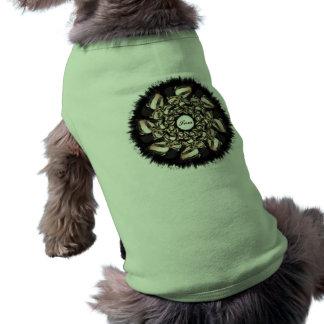 Cute Badger Cubs Fractal Doggie Tshirt