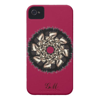 Cute Badger Cubs Fractal iPhone 4 Case-Mate Cases