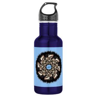 Cute Badger Cubs Fractal 18oz Water Bottle