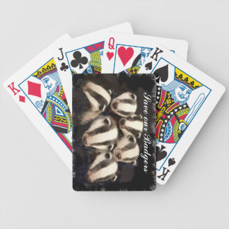 Cute Badger Cubs Poker Cards