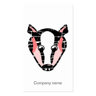 Cute Badger Face Business Card