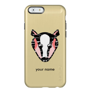 Cute Badger Face Incipio Feather Shine iPhone 6 Case
