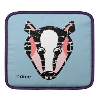 Cute Badger Face iPad Sleeve