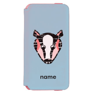 Cute Badger Face iPhone 6/6s Wallet Case