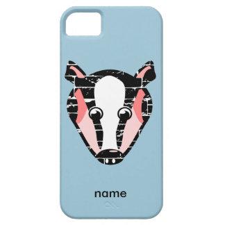 Cute Badger Face iPhone SE/5/5s Case