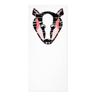 Cute Badger Face Rack Card