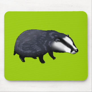 Cute badger mouse pad