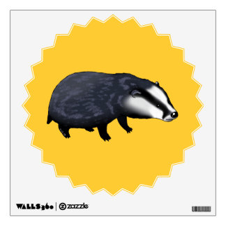 Cute badger wall decal