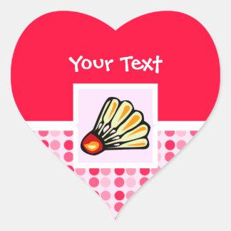 Cute Badminton Heart Stickers