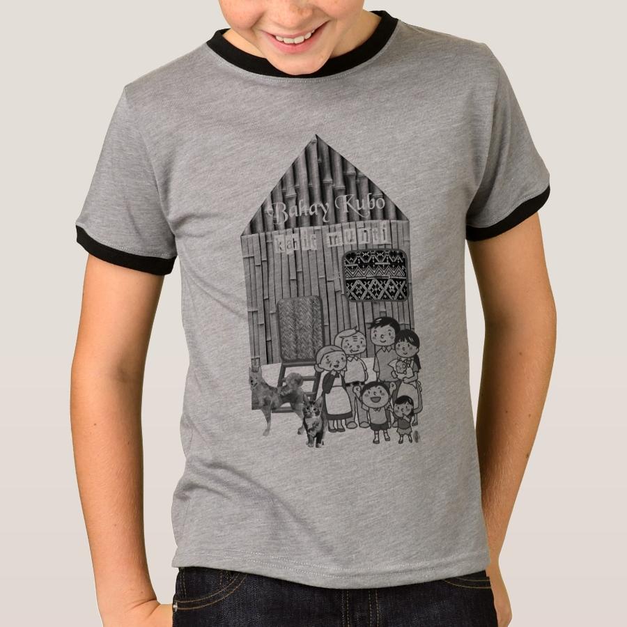 Cute Bahay Kubo Philippines Bamboo Pattern T Shirt Comfortable
