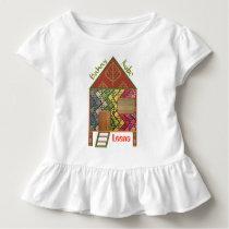 Cute Bahay Kubo Philippines, Bamboo Pattern Toddler T-shirt