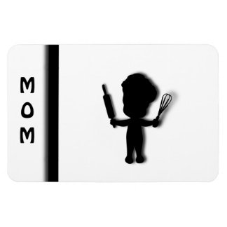 Cute Baker Mom Magnet