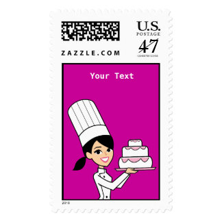Cute Baker Postage Stamp