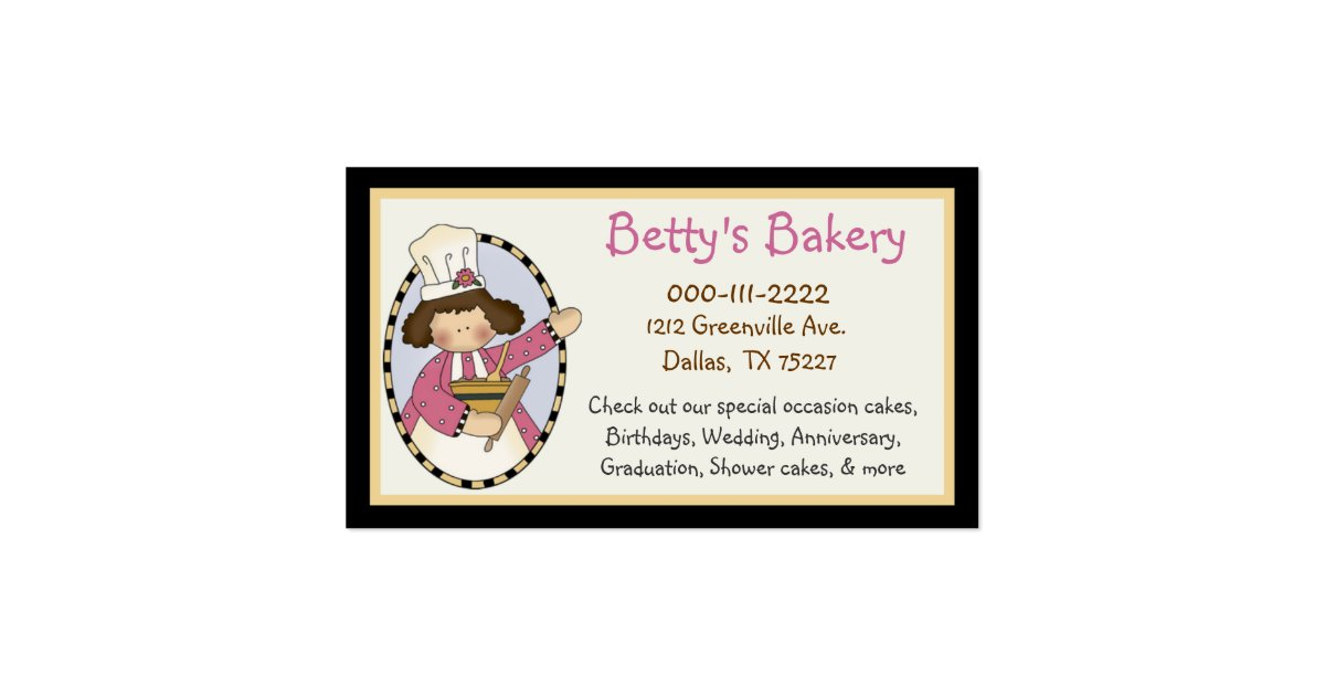 Cute bakery business card coupon zazzle for Zazzle business card coupon