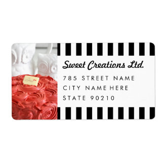 Cute Bakery Cafe Business Shipping Address Lables Label