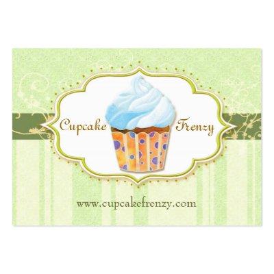 Cute Bakery Cupcake Emerald Green Business Cards