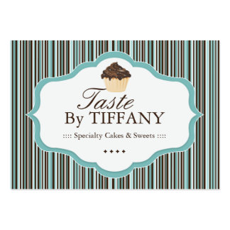 Cute Bakery Loyalty Cards Large Business Cards (Pack Of 100)