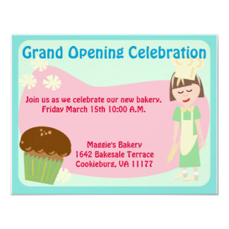 Cute Baking Theme Invite