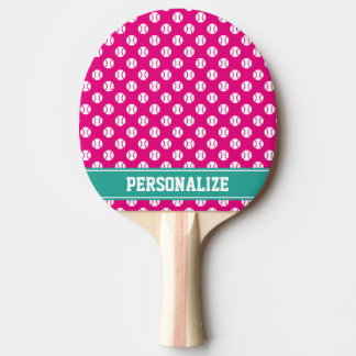 Cute ball pattern tennis ping pong paddle for kids