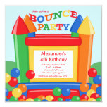 Cute Ball Pit Bounce House Birthday Party Custom Announcement