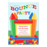 Cute Ball Pit Bounce House Birthday Party 5x7 Paper Invitation Card