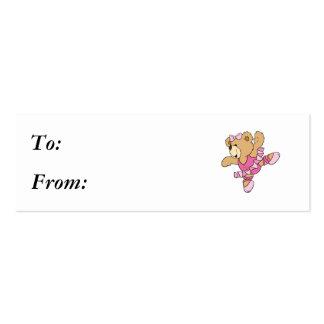 Cute Ballerina Bear Business Card Template