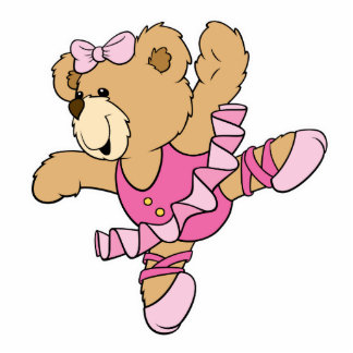 Cute Ballerina Bear Cutout