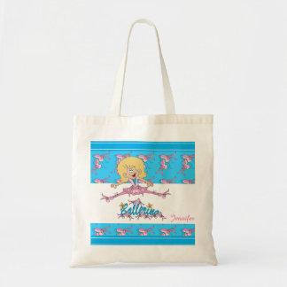 Cute Ballerina Dancer Budget Tote Bag