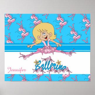 Cute Ballerina Dancer Poster