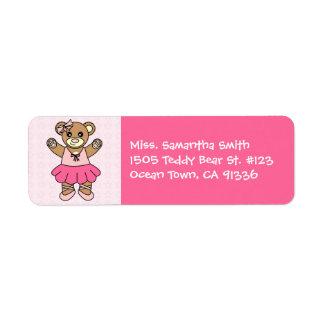 Cute Ballerina Dancing Teddy Bear - Pink Label