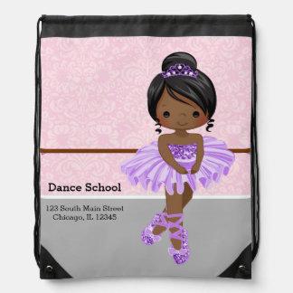 Cute Ballerina Drawstring Backpack