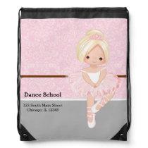 Cute Ballerina Drawstring Bag