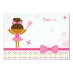 "Cute ballerina fairy girls birthday thank you card 3.5"" x 5"" invitation card"
