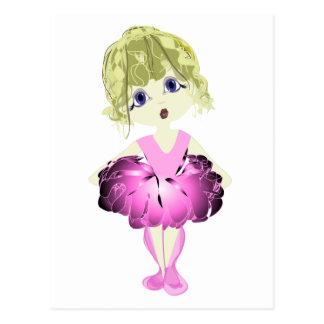 Cute Ballerina in pink tutu Postcard