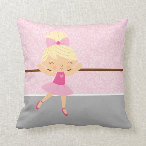 Throw Pillow Zazzle : Cute Ballerina Throw Pillow Zazzle