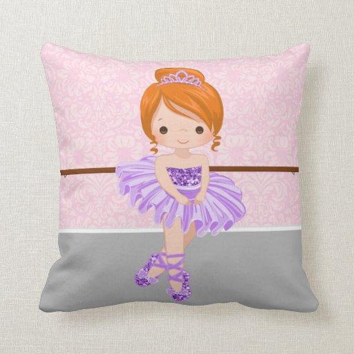 Cute Ballerina Throw Pillow Zazzle