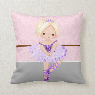 Cute Ballerina Throw Pillow