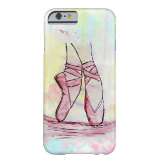 Cute Ballet shoes sketch Watercolor hand drawn Barely There iPhone 6 Case