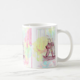 Cute Ballet shoes sketch Watercolor hand drawn Coffee Mug