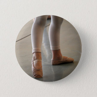 CUTE BALLET SLIPPERS LITTLE GIRL BALLERINA DANCER PINBACK BUTTON