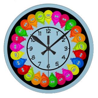 Cute Balloon Pattern Kids Wall Clock