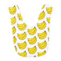Cute Banana Pattern Bib